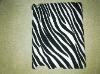 HOT Black Zebra Stripe Print leather coated case cover For ipad 2