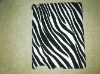 Hot Selling Black leather coated Zebra Pattern skin case For ipad 2