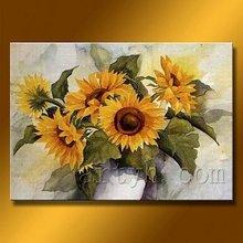Hot Sell Handmade Impressionist Sunflowers Oil Paintings
