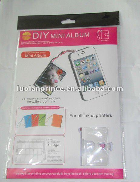 DIY mini Big square shape album(inkjet photo printing paper)-suitable for mobile,vedio games,bag ...