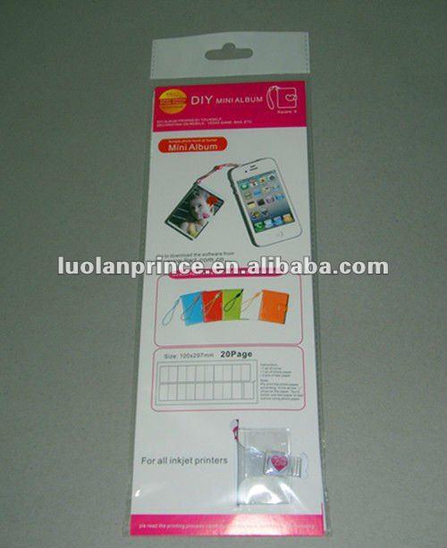 DIY mini Small square shape album/photo album/mini album(inkjet photo printing paper)-suitable f ...
