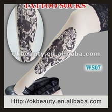 2012 Hot Sexy Top Lace Lady tattoo tights wholesale