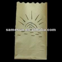 the rising sun design decorative paper candle bag