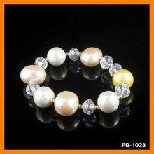 New Pearl Jewelry Charm Bracelet PB-1023