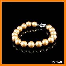 Golden Pearl Jewelry Charm Bracelet PB-1024