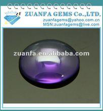 Round shape flatback cabochon snythetic gemstone