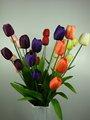 2015 nuevo diseño Artificial 4 heads tela flores de tulipán