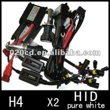 H4 6000k HID Xenon Bi-xenon H/L Beam Car Light Bulbs Lamps Relay Kit Ballast Set
