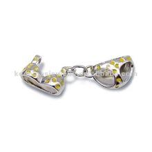 Mini underwear enamel pendant ,solid 925 sterling silver exposy jewelry