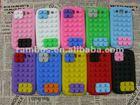 Smart silicone case building block design for Samsung Galaxy S3 i9300