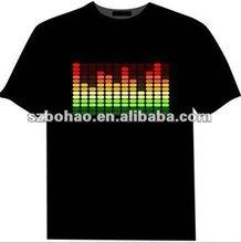 2012 new EL T-shirt clothes/el music clothes sold by watson!!!!