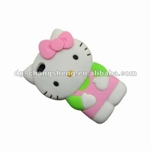 2012 silicone hello kitty case for iphone 4 4S 4G 4GS