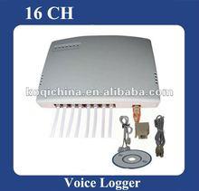 16 CH-Telefonanrufaufzeichnung durch USB-TelefonSprachaufzeichnungsanlagekasten