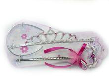 Pink Princess tiara and wand set