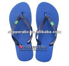 fashion men Brazil solid color rubber flip flop