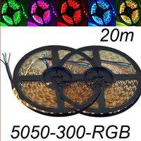 20M 4x 5050 Flash RGB LED Strip 5M 300 SMD Flexible light