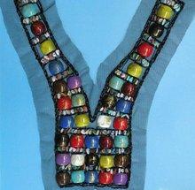 2012 v shape women beaded collar design