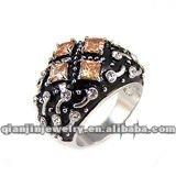 fashion tin alloy silver ring