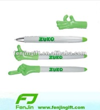 Advertisement Finger ballpoint pen plastic