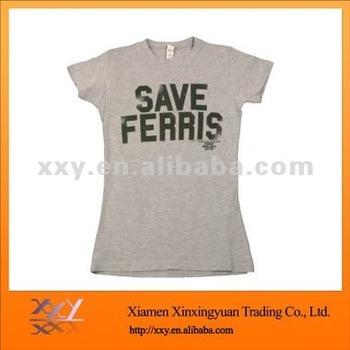 2015 Woman Fitted Tshirt Korea Design Short Sleeves T-shirt