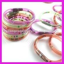 fashion cute plastic ball pen bracelet bangle