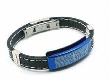 silica gel stainless steel charm bracelet 2012