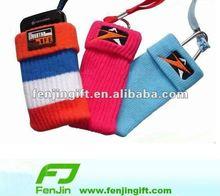 elastic sock mobile phone holder lanyard