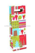 Wine Gift Bag - Carry Rectangle Handle Merry Christmas Design