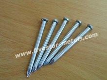 diamond point flat head galvanized concrete steel nail 45# smooth or flume shank