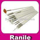 professional 15 pcs nail art painting pen brush set