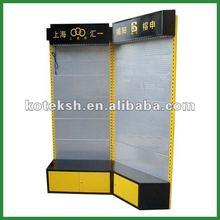 cold steel metal corner exhibition stand display