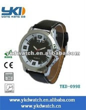 fashion men's PU leather wrap watches for business