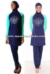 2012 Islamic Wear, Muslim Swimwear, Modest Swimwuit