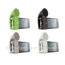 2012 Colorful silicone cheap horn holder for phone