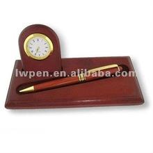 2012 exquisite wooden pen& clock sets