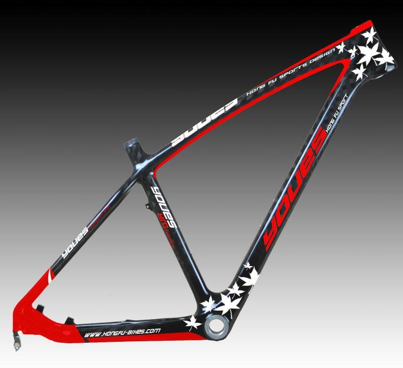 Nuova cina mtb bici, 27.5er carbonio telaio della bicicletta mtb in