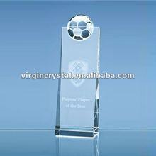 K9 optical trophy football crystal