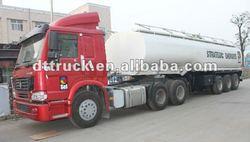 Bitumen asphalt HOWO 3 axle liquid Tank Semi-trailer Transporter