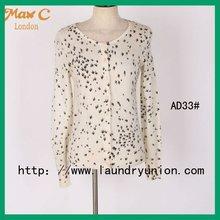 Birds printed led ladies sweaters AD33#