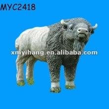 Large garden ornamental statue buffalo