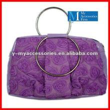 purple flower evening bags
