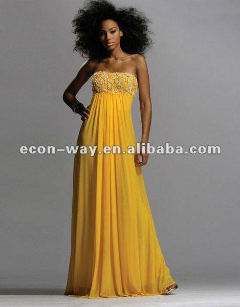 info for 8571c 2987e Vestiti lunghi eleganti giallo – Abiti in pizzo