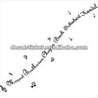 Song lyric vinyl decal