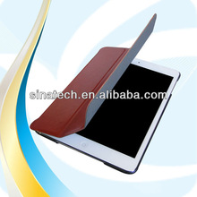 Factory Ultra thin stripe pattern design flip leather case for ipad mini