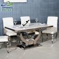 geri de mármol con estilo de acero inoxidable muebles americanos europeos pequeño apartamento antecomedores cartera de mesa de comedor mesa 137