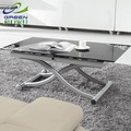 geri móveis apartamento pequeno multifuncionais dupla elevador moda moderna mesa de vidro mesa comprida 829