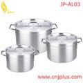 Jp-al03 caliente venta 6 unids de aluminio Caldero con tapa de aluminio