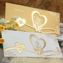 Newly designed handmade wedding birthday favor 25th anniversary invitation cards