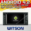 WITSON ANDROID 4.2 DVD HEAD UNIT TOYOTA CAMRY 2012 WITH A9 CHIPSET 1080P 8G ROM WIFI 3G