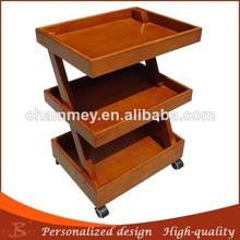 2014 beauty design wood massage tool trolley wood leisure massage facial cart